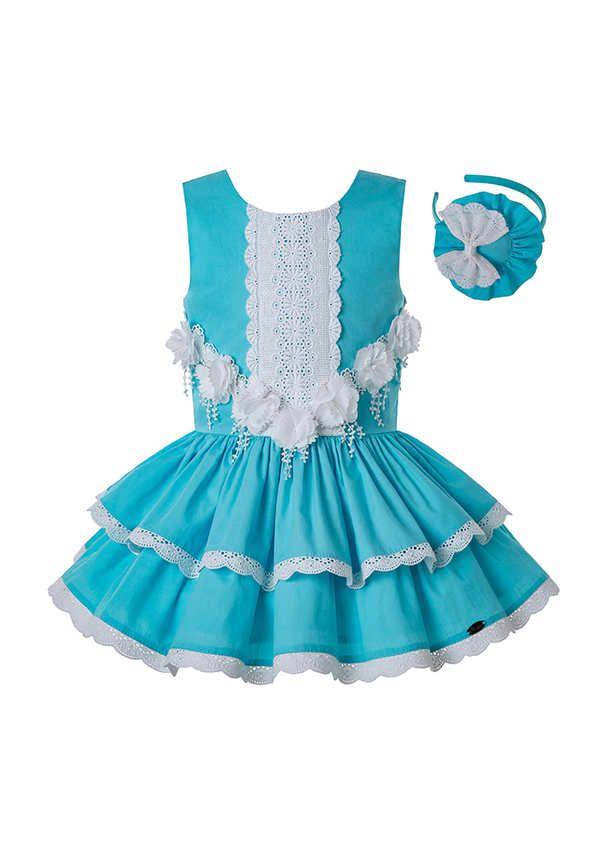Sleeveless Baby Dress// Sling Lace Baby Dress handmade